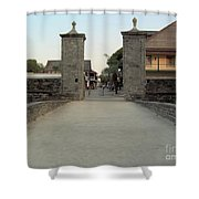 Twilight At The City Gates Shower Curtain