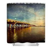 Twilight Biloxi Bridge Shower Curtain