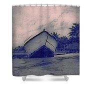 Twilight Boat  Shower Curtain