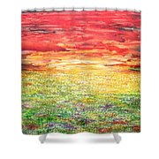Twilight Bounds Softly Forth On The Wildflowers Shower Curtain