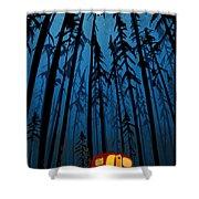 Twilight Camping Shower Curtain by Sassan Filsoof