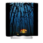 Twilight Camping Shower Curtain