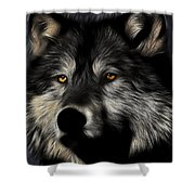 Twilight Eyes Of The Lone Wolf Shower Curtain by Wingsdomain Art and Photography