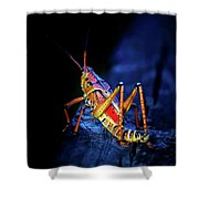 Twilight Grasshopper Shower Curtain