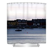 Twilight In The Harbor At Skerries Shower Curtain