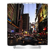 Twilight In The Streets Shower Curtain