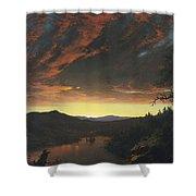 Twilight In The Wilderness Shower Curtain