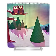 Twilight In The Woods Shower Curtain