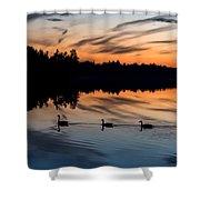 Twilight Lake Swim New Jersey Shower Curtain