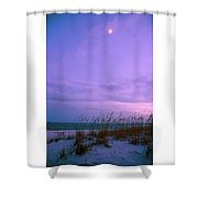 Twilight Moon Over Sand Dunes Shower Curtain