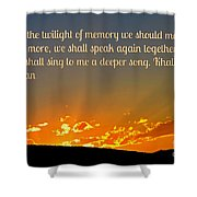 Twilight Of Memory Shower Curtain