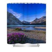Twilight On Bow Lake, Banff National Shower Curtain