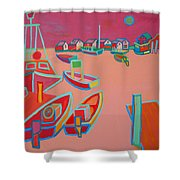 Twilight On Menemsha Shower Curtain