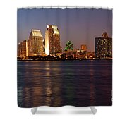 Twilight On San Diego Harbor Shower Curtain