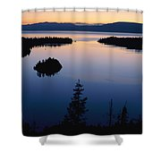 Twilight Over Emerald Bay Shower Curtain