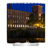 Twilight Over The Cocheco Mills Dover New Hampshire Shower Curtain