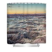 Twilight Over The Painted Desert Shower Curtain