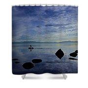 Twilight Paddle  Shower Curtain