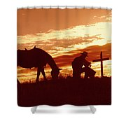 Twilight Prayer Shower Curtain