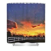 Twilight Sunset Shower Curtain