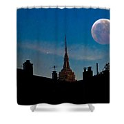 Twilight Time In The City Shower Curtain