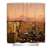 Twilight Waikiki Shower Curtain