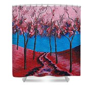 Twilight Woods Shower Curtain