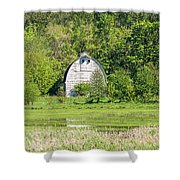 Twin Barns In Spring Shower Curtain
