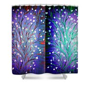Twin Beauty-2 Shower Curtain by Karunita Kapoor