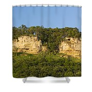 Twin Bluffs 2 A Shower Curtain