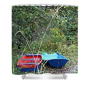 Twin Boats Bella Coola Bc Shower Curtain