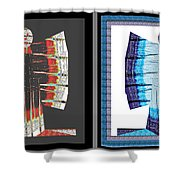 Twin Buttefly Sisters One Angel Other Evil  Blue Moon Butterfly Womens Fashion Couture From Jaipur  Shower Curtain
