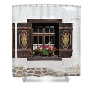 Twin Decorated Windows Shower Curtain