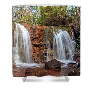 Twin Falls At Ironstone Gully Shower Curtain