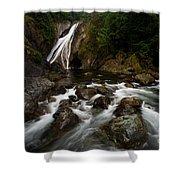 Twin Falls Landscape Shower Curtain