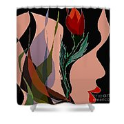 Twin Fire Flower Head 2 Shower Curtain by Navo Art