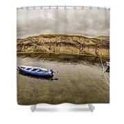 Twin Fishing Boats Shower Curtain