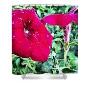 Twin Flower Power Shower Curtain
