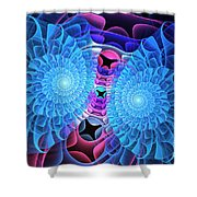 Twin Flowers Shower Curtain