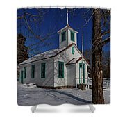Twin Lakes School District No. 009 Established 1895 Shower Curtain