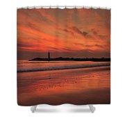 Twin Lakes Sundown Shower Curtain