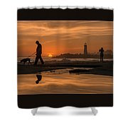 Twin Lakes Sunset Reflected Shower Curtain