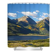 Twin Lakes/twin Peaks Colorado Fall Shower Curtain