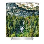 Twin Lakes Waterfall Shower Curtain
