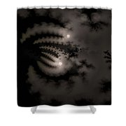 Twin Moons Shower Curtain