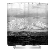 Twin Peaks Black And White Panorama Shower Curtain