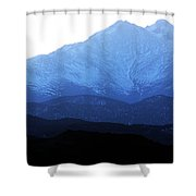 Twin Peaks Blues Shower Curtain