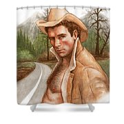 Twin Peaks Cowboy Shower Curtain