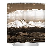 Twin Peaks In Sepia  Shower Curtain