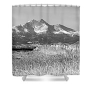 Twin Peaks Rustic Fence Shower Curtain